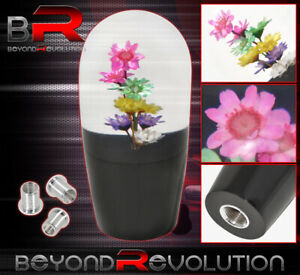 90mm Flower Multi Color Shift Knob 5 Speed 5psd M8 M10 M12 Adapter For Nissan