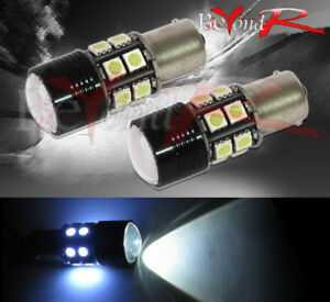 2 Piece Cree Led Projector 12 Smd 1156 White Light Bulbs Brake Stop Reverse