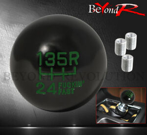 Universal 2 4oz Manual Automotive Car Upgrade Solid Ball Type Shift Knob Green