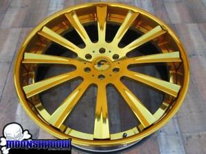 26 Forgiato Lavorato Gold Wheels Rims 26x10 6x139 7 Chevy Tahoe Escalade Denali