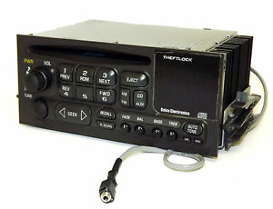 1995 05 Gmc Chevy Truck Radio Am Fm Cd Player Auxiliary 3 5mm Input On Pigtail