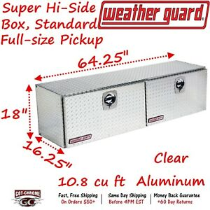 365 0 02 Weather Guard Aluminum Super Hi Side Box Top Mount 64 Truck Toolbox