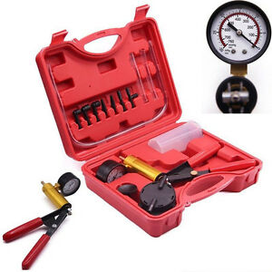Car Hand Held Tester Set Deluxe Brake Bleeder Bleed Kit Vacuum Pump Motorbike