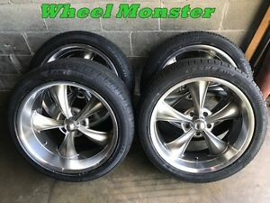 20x8 20x10 Staggered Ridler Wheels And Tires 5x5 Gm Truck Chevy Gmc
