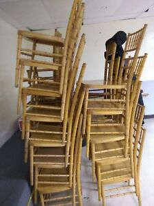 100 Stackable Neutral Chaivari Chairs