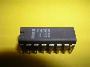 Intel P4003 10 bit Shift Register output Expander Gray Plastic With Square Key
