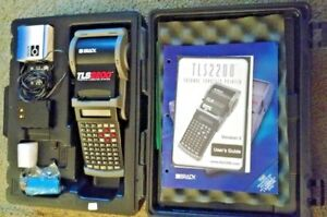Brady Tls2200 Tls Pclink Thermal Labeling System W Case Battery Charger Etc