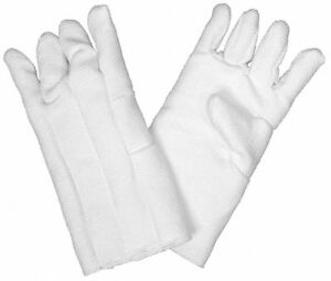 Zetex Heat Resistant Gloves One Size Fits Most White Zetex r Highly Texturized