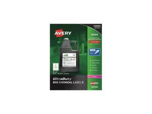 Avery Ultraduty Ghs Chemical Labels For Laser Printers 60504 Waterproof Uv