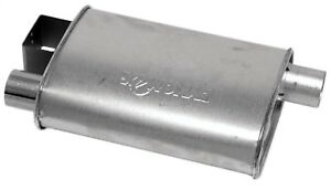 Dynomax 17735 Super Turbo Muffler 2 25 Id 2 25 In Inlet outlet Oval