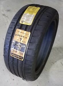 1 New 225 40r18xl 92y Continental Contisportcontact 2 225 40 18 Tire