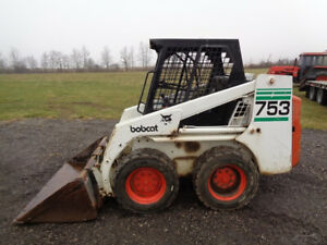 1998 Bobcat 753 Skid Steer Orops Sticks pedals Kubota Diesel Engine 2 499hrs