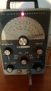 Heathkit Ig 102 Rf Signal Generator With Test Cable
