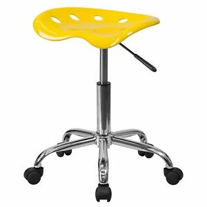 Delacora Lf 214a yellow gg Yellow 17 w Metal Swivel Seat Stool With Tractor Seat