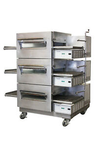 Lincoln Impinger 1132 002 Commercial Triple Stack Electric Conveyor Pizza Oven