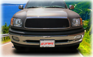 Grillcraft 1 pc Upper Grille Insert To Fit 2000 2001 2002 Toyota Tundra Black