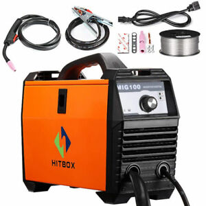 Mig Welder 110v Mig Welding Machine 100a Flux Cored 100 Amp Dc Mini Inverter Gas