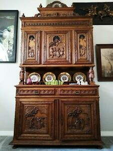 Antique French Carved Cabinet