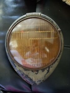 Antique Car Truck Motorcycle Head Light Lamp Ring Glass Man Cave