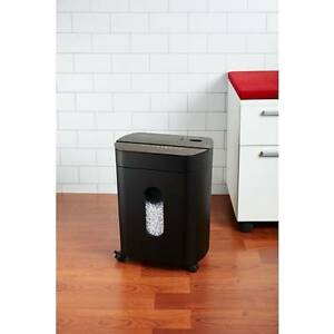 New Staples 12 sheet Cross cut Shredder With Wood like Tops Black Spl nxc12wda