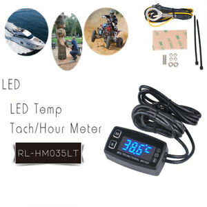 Blue Digital Led Real time Display Tachometer hour Meter thermometer Widely Used
