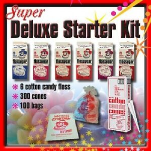 Super Deluxe Cotton Candy Floss Machine Starter Kit