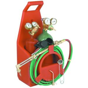 Portable Torch Kit With Oxygen And Acetylene Tanks