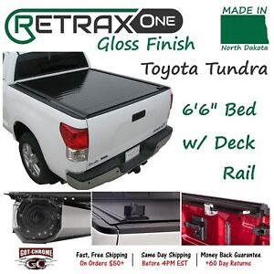 10842 Retraxone Retractable Tonneau Cover Toyota Tundra 6 6 Bed W Deck Rail
