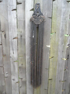 Antique Wall Wood Clothes Dryer Hanger 8 Wood Arms