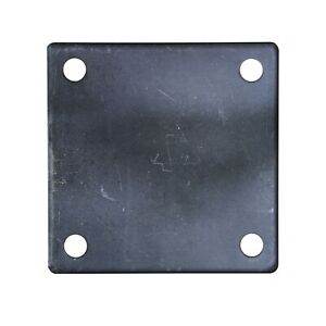 Flat Square Steel Metal Base Plate 6 X 6 X 1 4 Thickness 3 8 Hole Qty 4