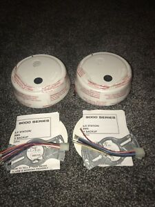 2 New Gentex 9123 Photoelectric Smoke Alarms W battery Back up Fire Alarms