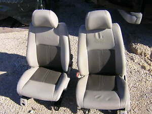 05 Jeep Grand Cherokee Tan Leather Front Seats