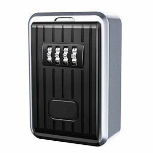 Indoor Outdoor 4 Digit Door Lock Combination Safety Lock Code Storage Wall Box