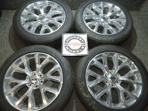 2019 Expedition F150 Limited 22 Factory Oe Polished Wheels Tires P285 45r22
