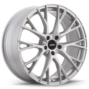 4 new 19 Inch Konig 46s Interflow 19x8 5 5x112 Metallic Silver Wheels Rims