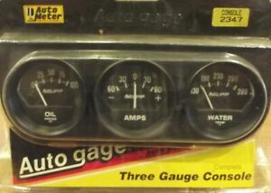 2 Inch Mechanical Triple Gauge Kit W Amps Autogage By Autometer 2347
