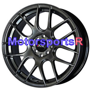 Xxr 530 17x7 Chromium Black Concave Rims Wheels 4x100 93 98 01 Acura Integra Gsr