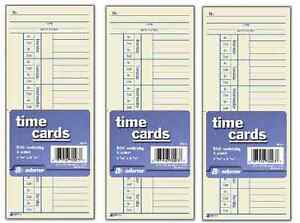 1500 Time Cards Punch Employee Payroll Amano Clock 2 Sided Adams 9664a 3 X 500