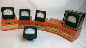 nos Simpson Panel Meter In Orig Box Model 27 Square Bezel select Range