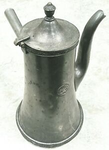 Hotels Statler Reed Barton Soldered Silver Coffee Chocolate Tea Pot 52 Ounces