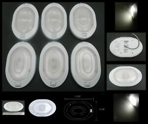 6 Oval 6 Led Surface Mount Interior Dome Ceiling Light W Switch Rv Camper