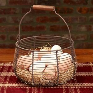 Primitive Reproduction Old Metal Egg Basket The Country House Collection