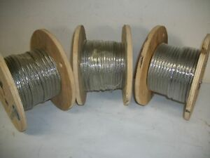 Lot Of 3 Rolls Alpha Wire Tinned Copper Tubular Braid 2171 1 9 32 7 14mm