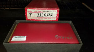 Starrett 711 Last Word Dial Test Indicator W Accessories Vintage Very Good