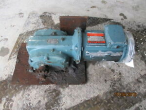 Dodge Gear Reducer With Motor Ratio 36 0 1 1725 Rpm 1231910c Used
