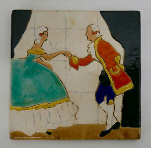 San Jose Mission Vintage Tile Colonial Dance Couple