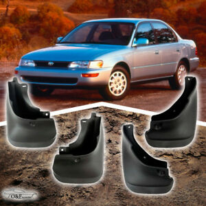 1993 1997 Toyota Corolla Sedan Splash Guard Mud Flaps Set 4 Pieces