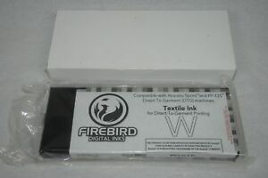 Firebird Digital Inks Anajet Sprint Fp 125 Dtg White Textile Ink 220ml New