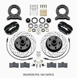 Wilwood 140 13476 D Front Disc Brake Kit 65 69 Fits Mustang Drilled