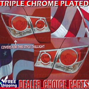 2011 2012 2013 2014 2015 Chevy Cruze Abs Chrome Tail Light Bezel Covers